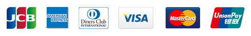 JCB AMERICAN EXPRESS Diners Club INTERNATIONAL VISA Master Card Union Pay